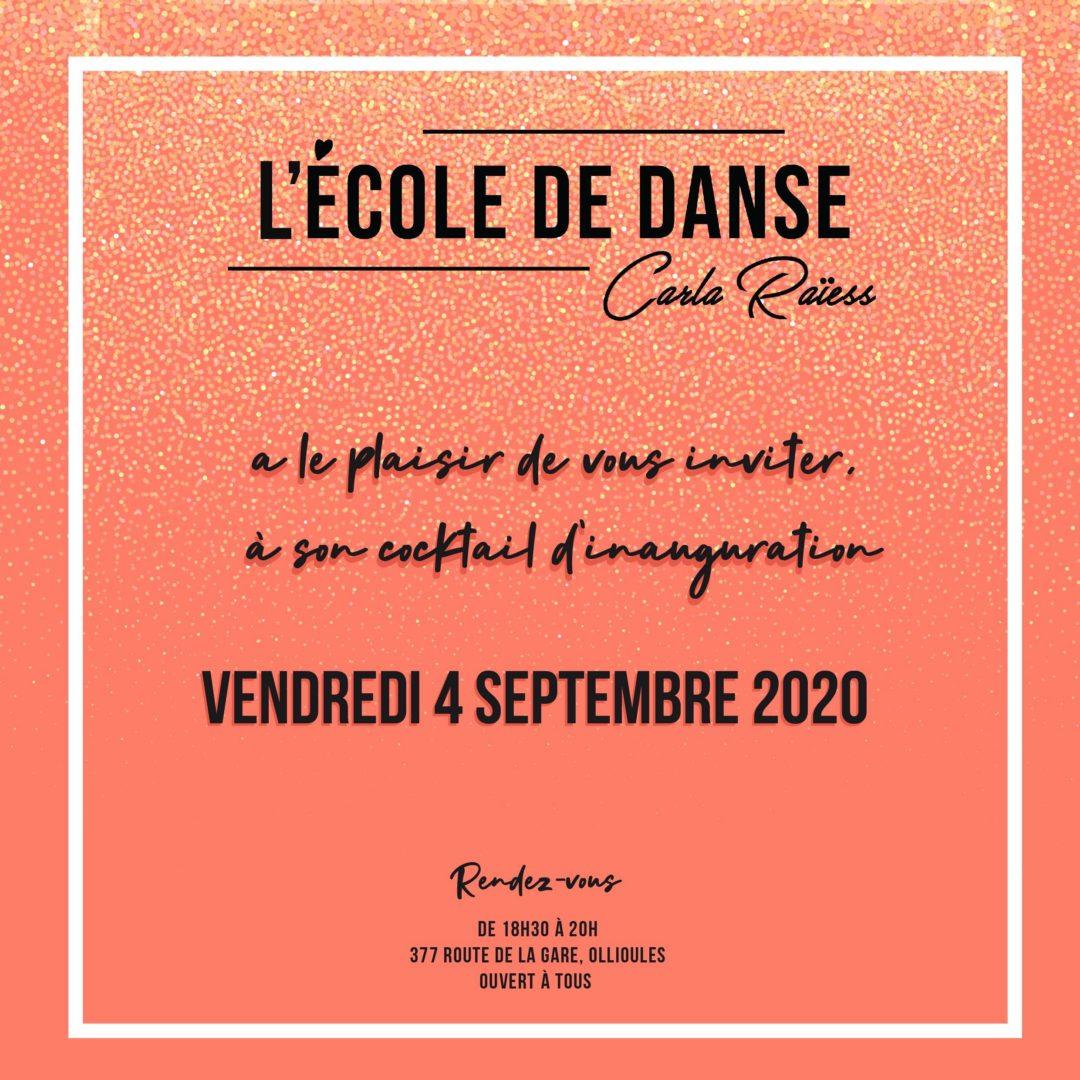 Cocktail d'inauguration de votre nouvelle école de danse à Ollioules !