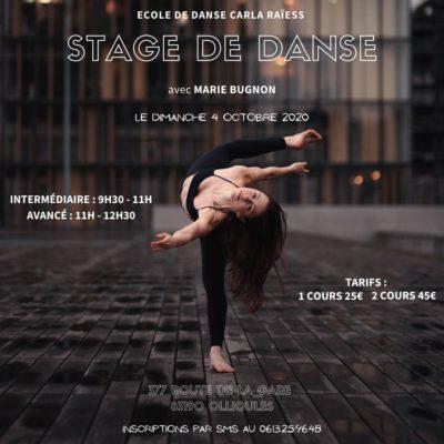 La danseuse Marie Bugnon est l'invitée de l'école de danse : un stage de folie !